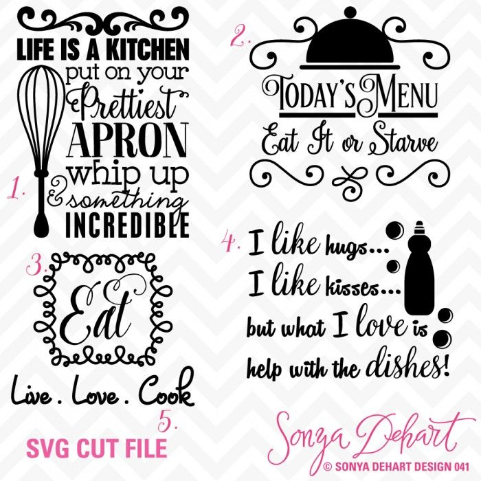 kitchen sayings svg cuttables svg cuttables silhouette cricut vinyl papercrafting diy on kitchen quotes id=46243