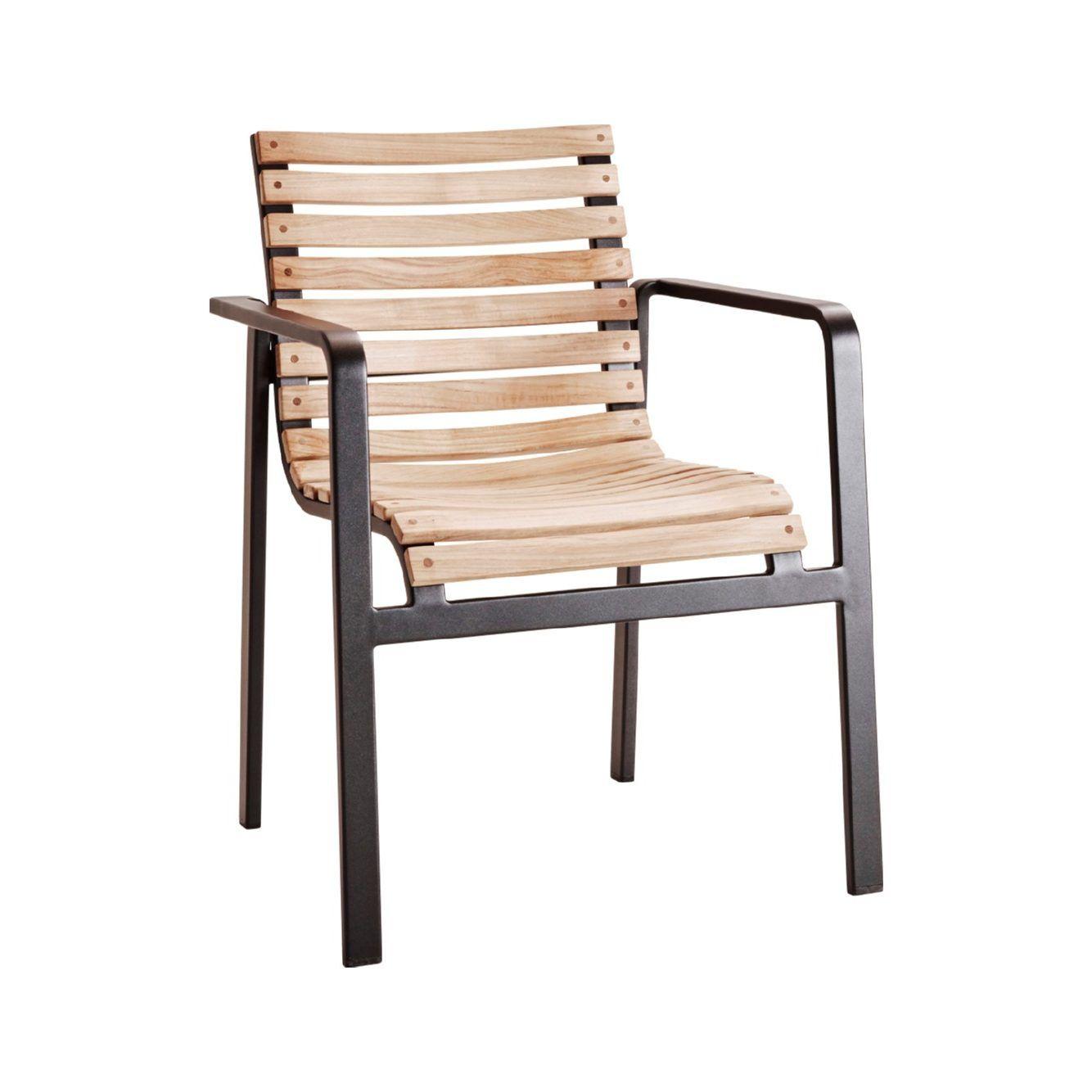 Parc Chaise Avec Bras Cane Line Aluminium Teck Jdv Meuble