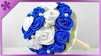 Krepina Crepe Paper Jak Zrobic Rozyczki Metoda Cukierkowa Youtube Ribbon Flowers Bouquet Ribbon Rose Bouquets Diy Wedding Bouquet