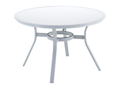 Gloster runder Esstisch Roma HPL Weiß Gartenmöbel Pinterest - runder küchentisch weiß