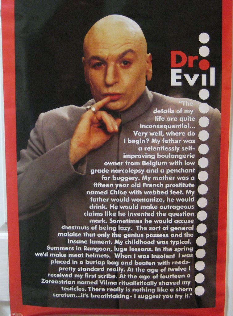Austin Powers Dr. Evil Poster Haha Pinterest Austin