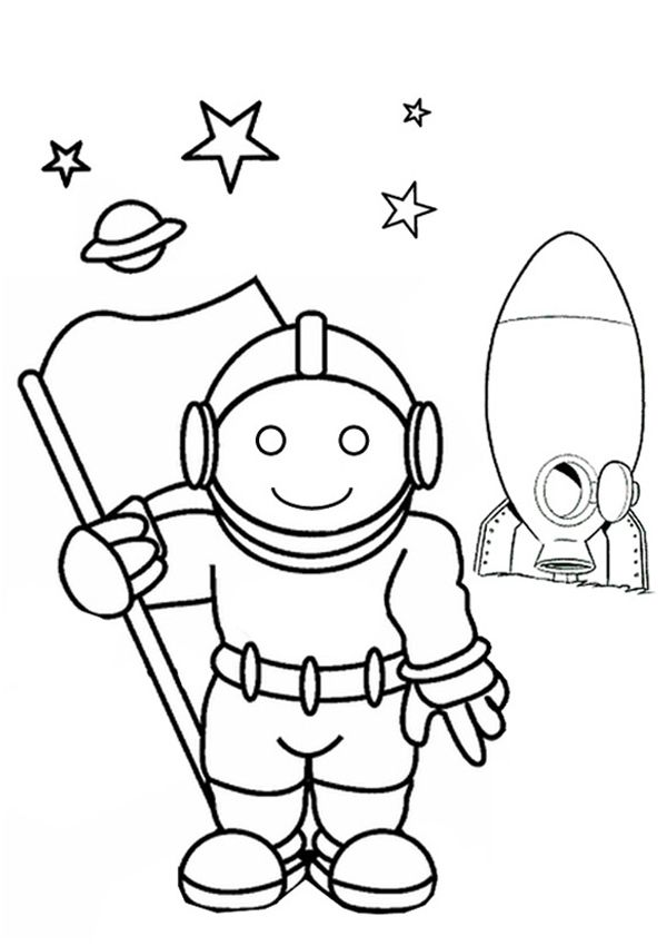 Free Online Astronaut Colouring Page | Kids activity sheets ...