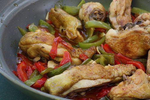 La recette de poulet basque  RECETTES  RECEPTEN
