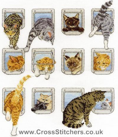 Heads or Tails- DMC Cat Cross Stitch Kit