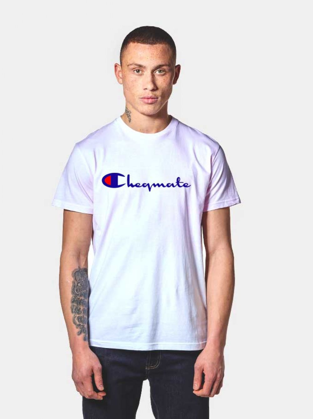 c0313f32 Cheqmate Champion Logo Parody T Shirt $ 14.50 #Tee #Hype #Outfits #Outfit # Hypebeast #fashion #shirt #Tees #Tops #Teen