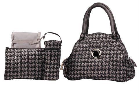 Herringbone Silver Continental Flair Diaper Bag Style