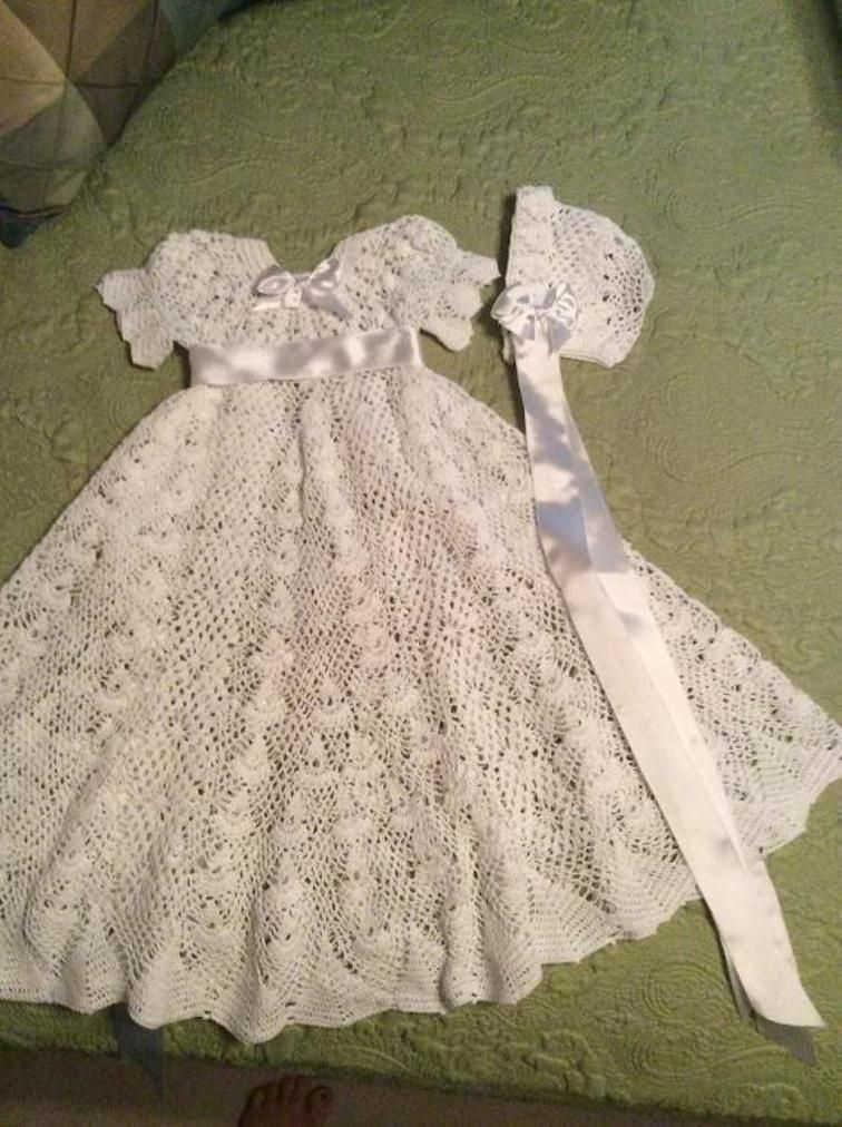 0a16d2a7b063 Heirloom Vintage Style Christening Gown | crocheted clothes ...