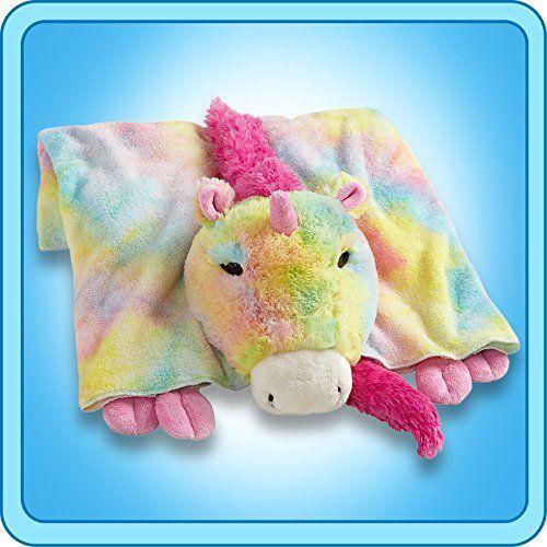 My Pillow Pets Premium Rainbow Unicorn Blanket Animal