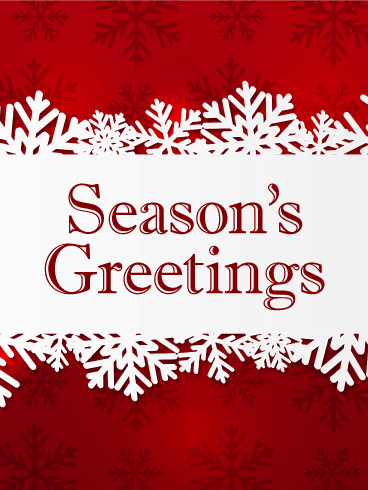 seasons greetings card fall is over and winter is here as temperatures drop and days grow shorter take the time to enjoy the holiday season - Seasons Greetings Cards