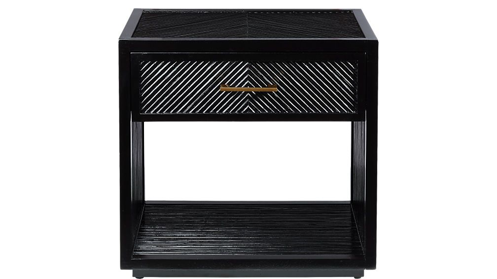 Best Carlo Black Wood Nightstand Reviews Cb2 With Images 640 x 480