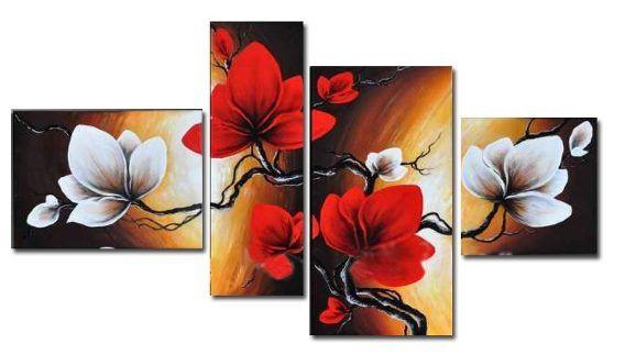 Cuadros Modernos Trpticos Polpticos Florales Relieve Cuadro