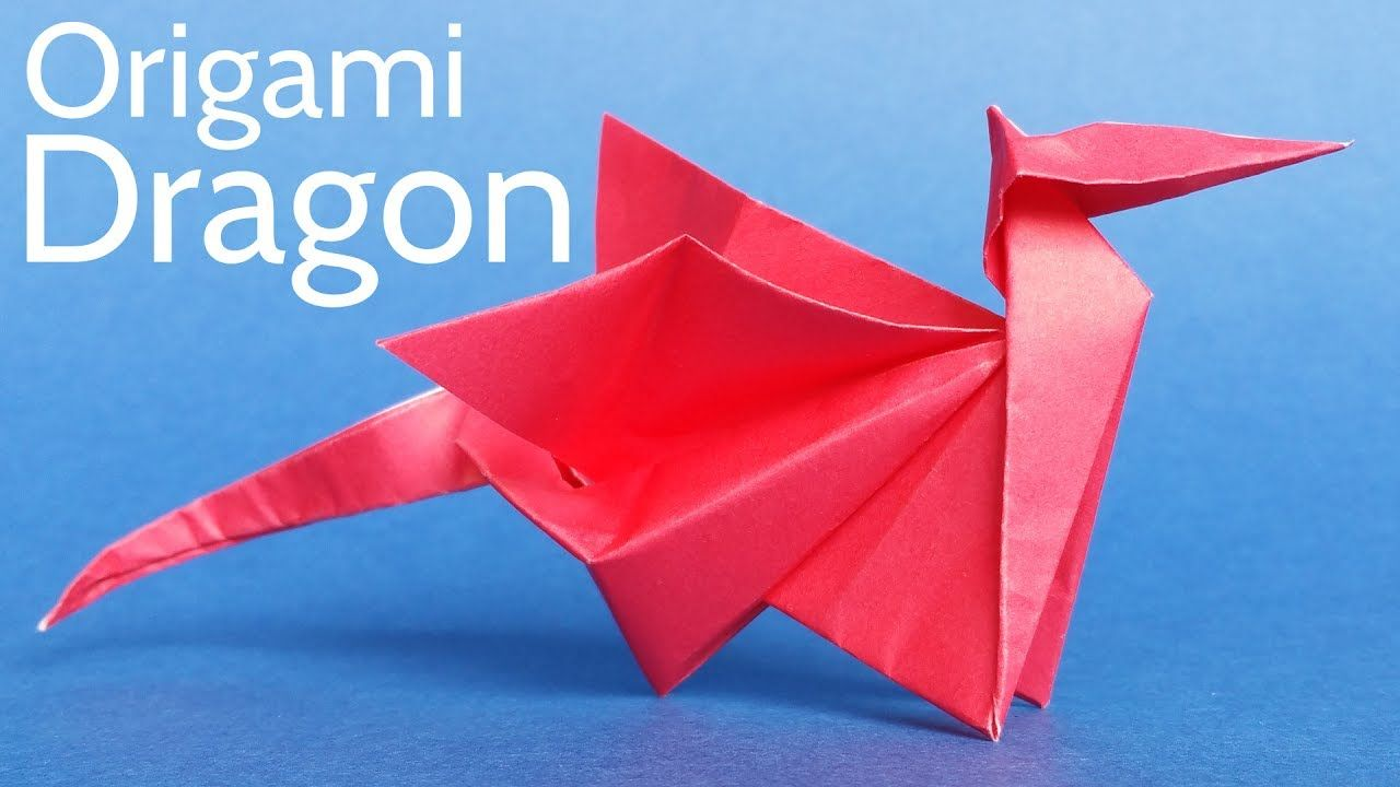 An Easy Way To Make A Cool Origami Dragon Pinterest Origami