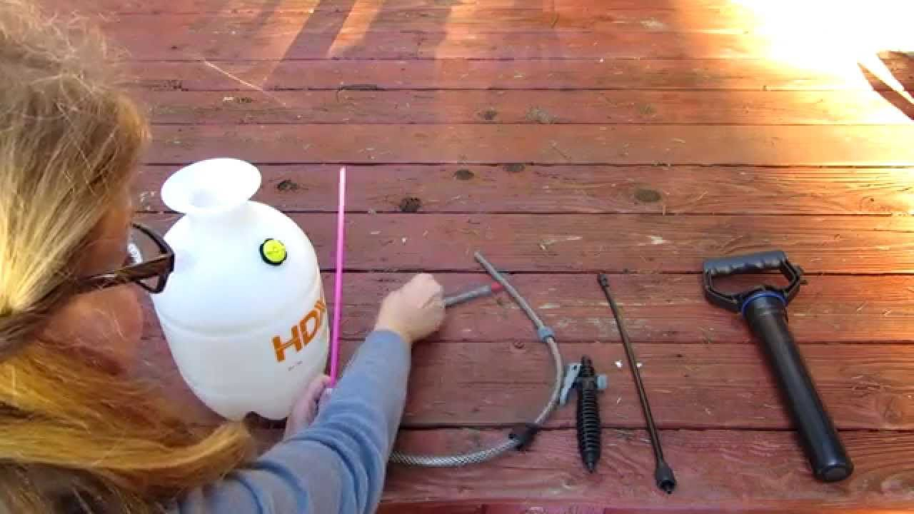 Garden Sprayer How To Assemble and Use HDX 1 Gallon Multi