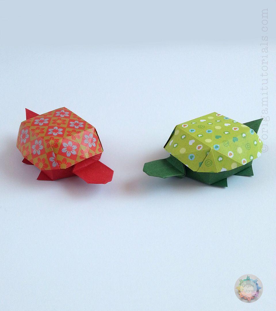 Origami tortoise box origami boxes origami and diagram origami turtle box by yoshihisa kimora diagrams in noa book origami boxes jeuxipadfo Image collections