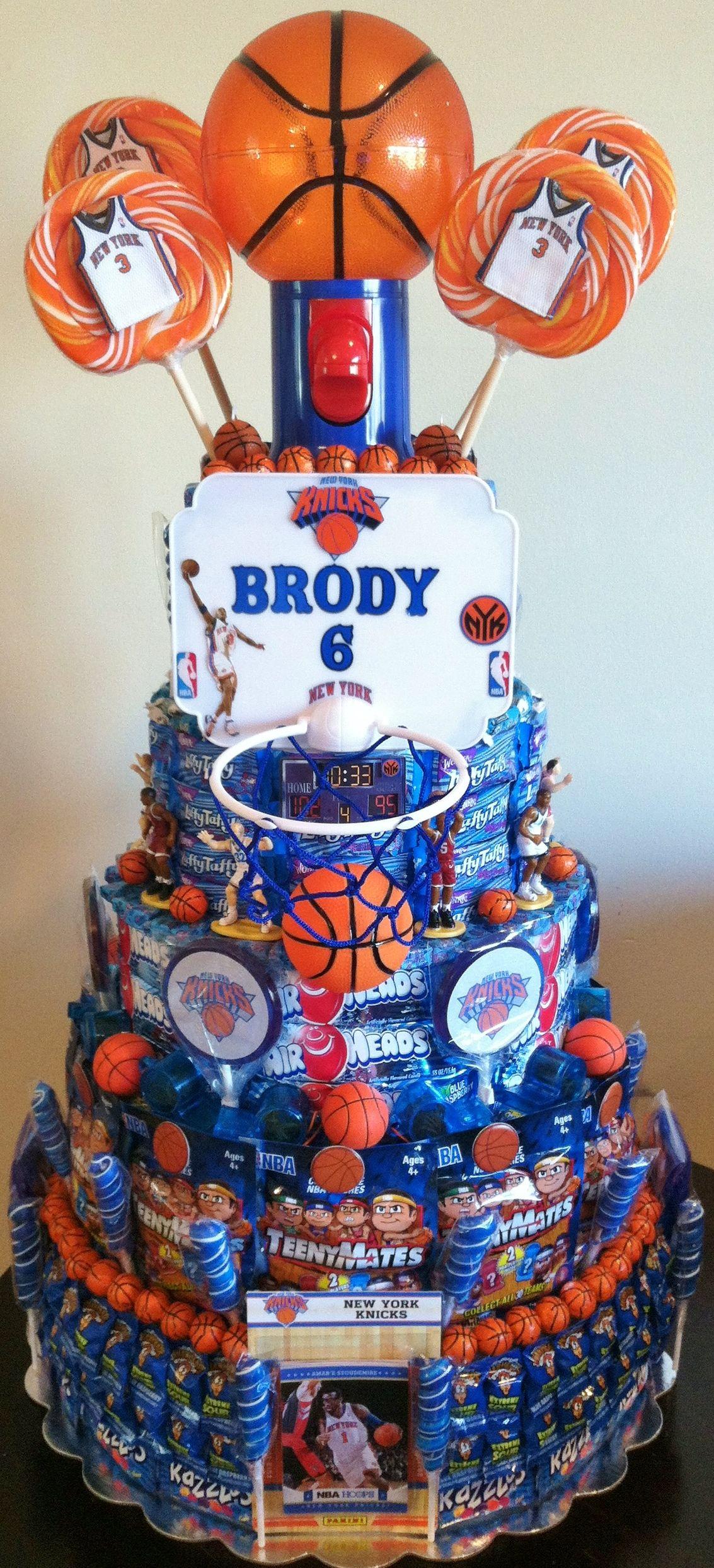 basketball party knicks team basketball theme cake candy