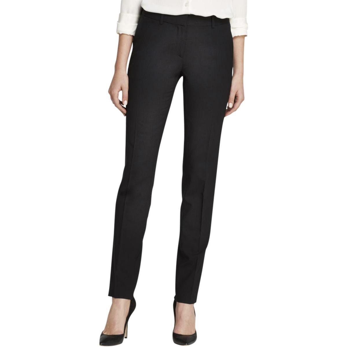 Theory Womens Wool Solid Dress Pants