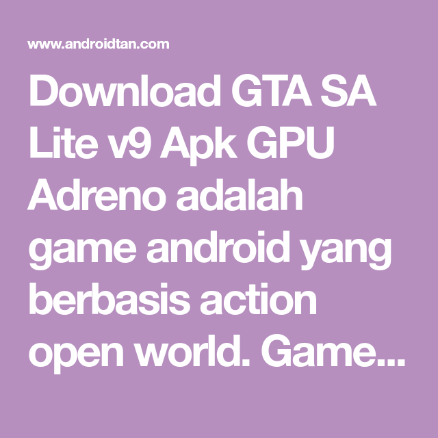 download apk gta sa lite adreno putra adam