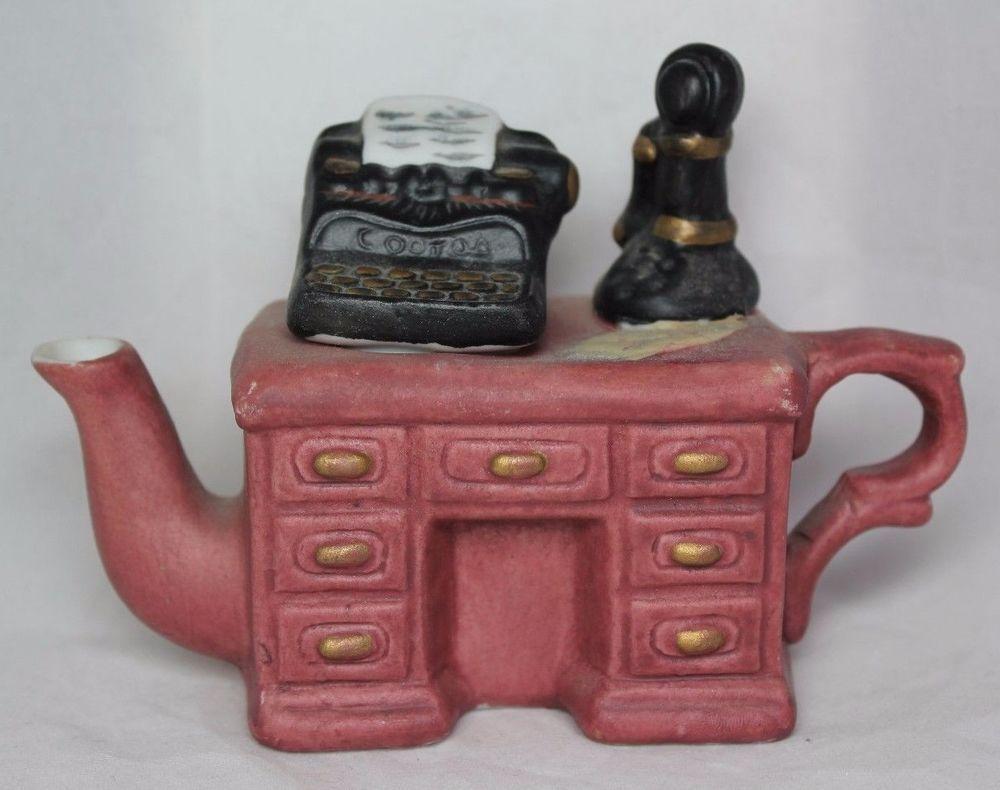 Mini Ceramic Decorative Teapot Antique Vintage Desk Theme 4 1 2 X 3 1 2 Tea Sets For Sale Miniature Tea Set Vintage Desk