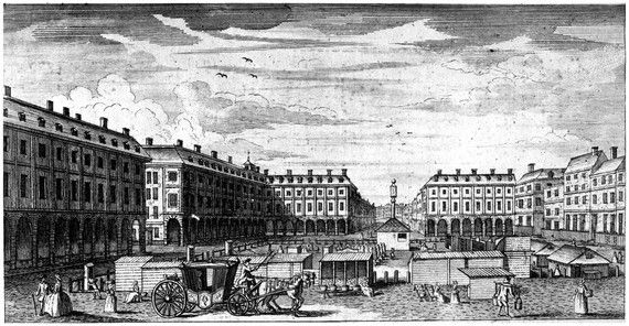 Covent Garden from portico of St Paul's church, 1749
