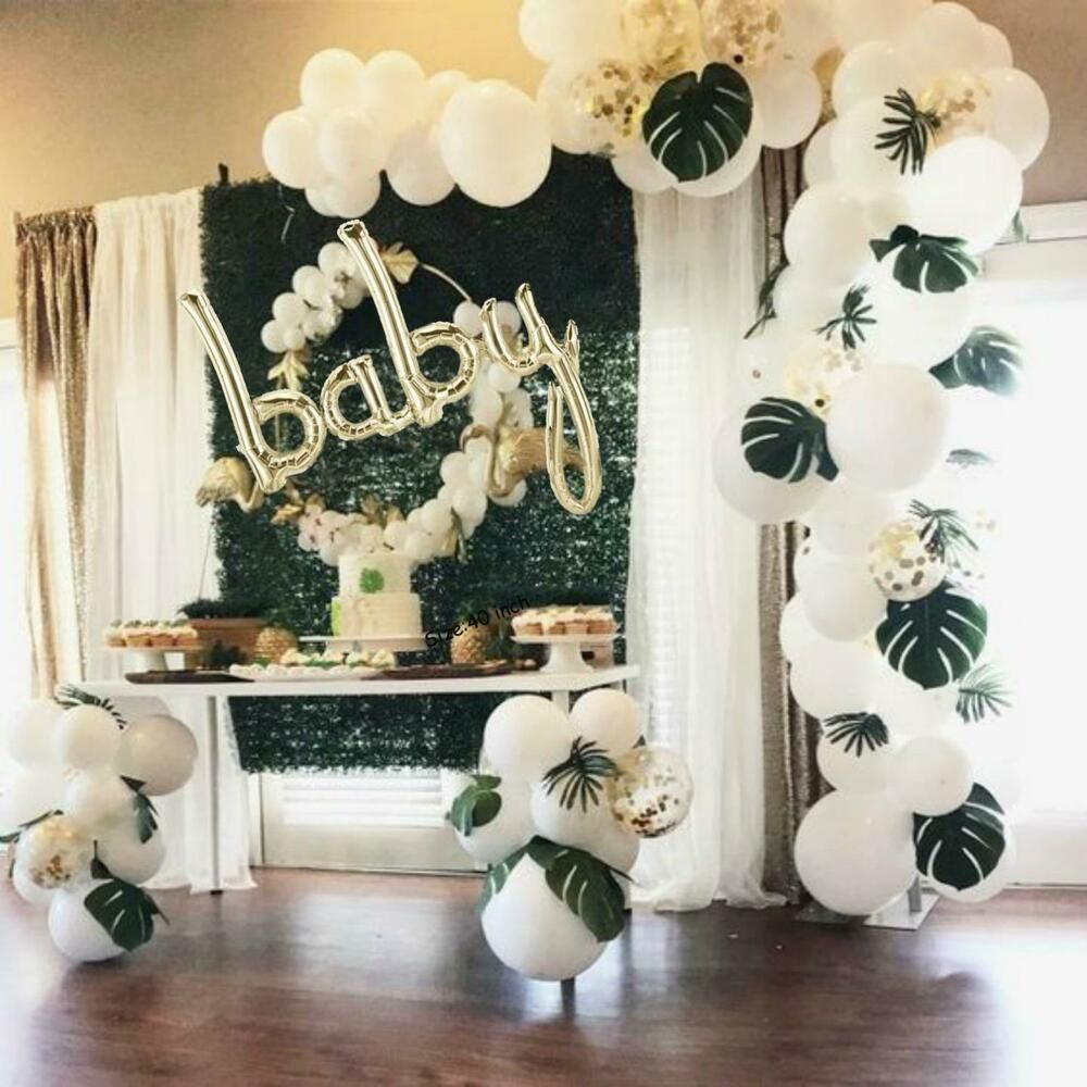 Champagne Gold Baby Script Balloon 101cm Baby Shower Decorations