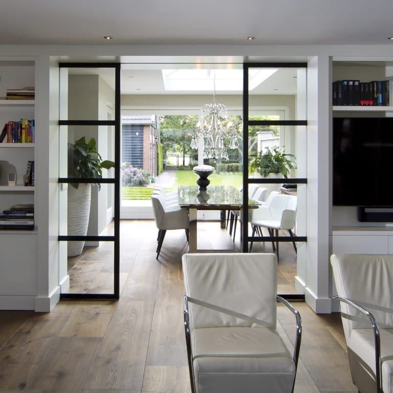Stalen schuifdeur in woonkamer | Living Room Ideas | Pinterest