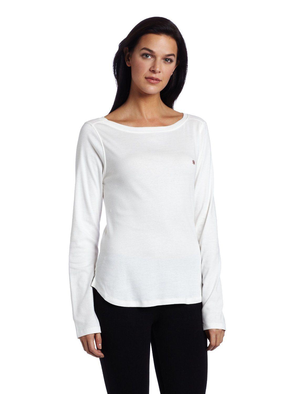 3f28f3da490f1 Tommy Hilfiger Women s Boat Neck Long Sleeve Sleep Shirt