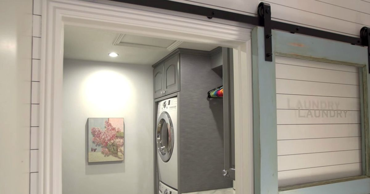 When you have six kids and a tiny laundry room, you need some pretty nifty tricks to keep your household in order. Here's how one genius mom cracked the code. #geniusmomtricks When you have six kids and a tiny laundry room, you need some pretty nifty tricks to keep your household in order. Here's how one genius mom cracked the code. #geniusmomtricks