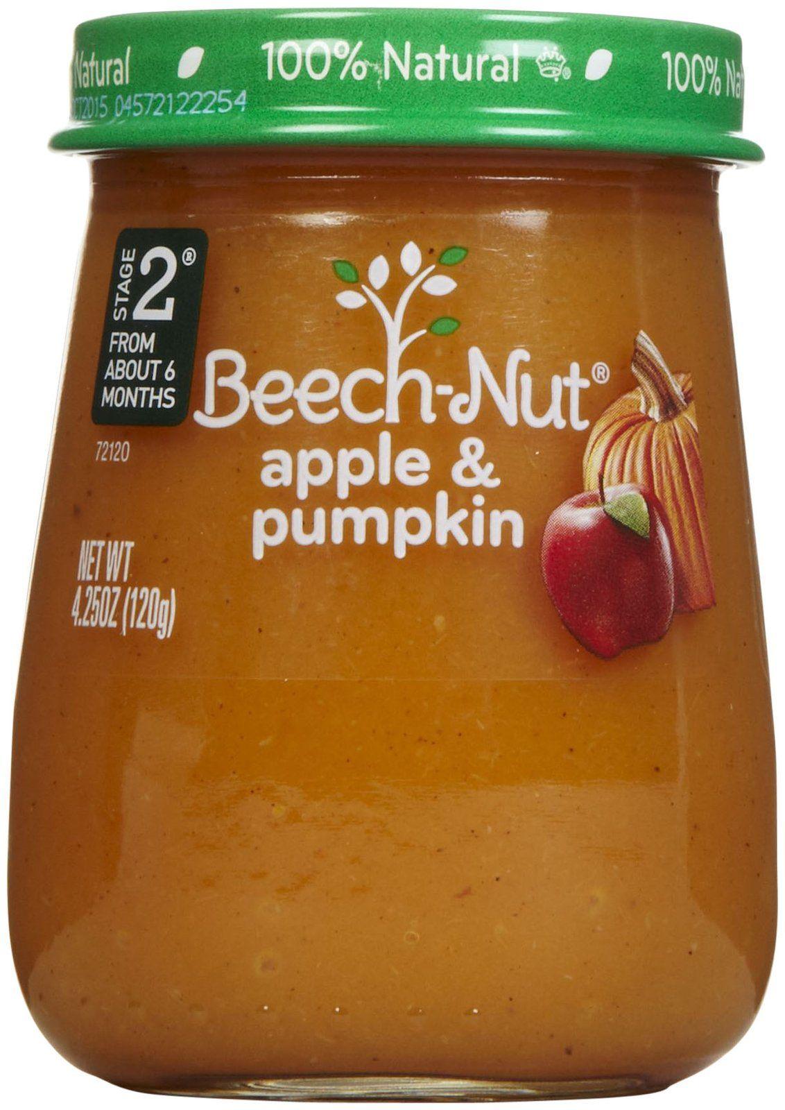 Beechnut stage 2 just purees apple pumpkin free