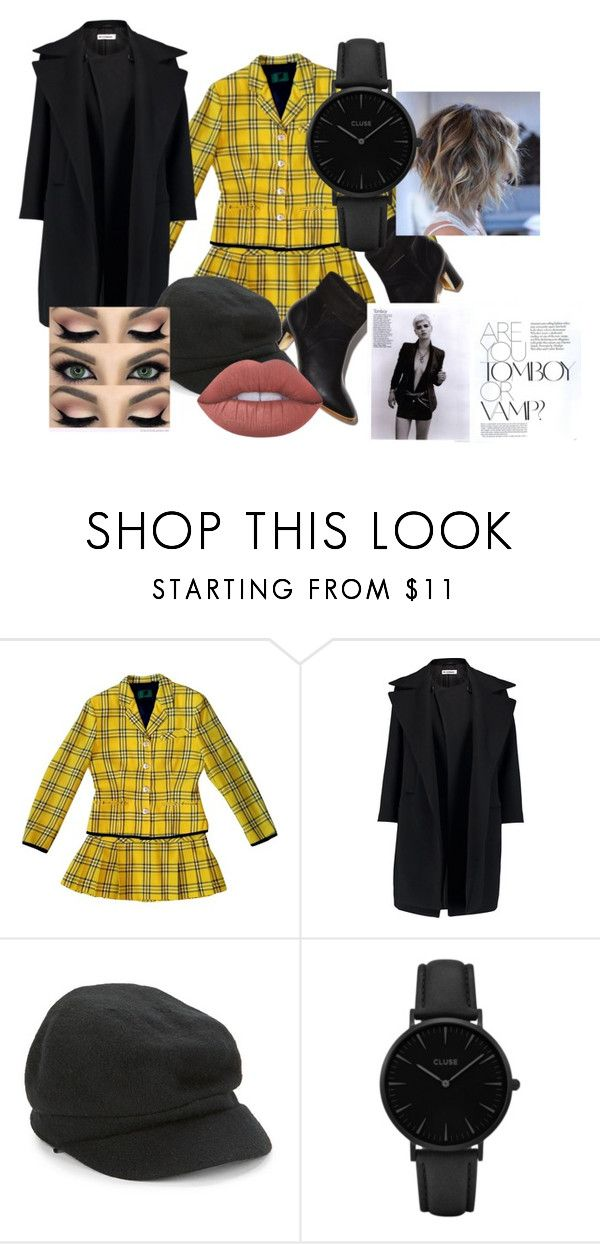 """""""Sophisticated Tomboy"""" by velvetgirl10 ❤ liked on Polyvore featuring Jean-Paul Gaultier, Jil Sander, August Hat, CLUSE and Lime Crime"""