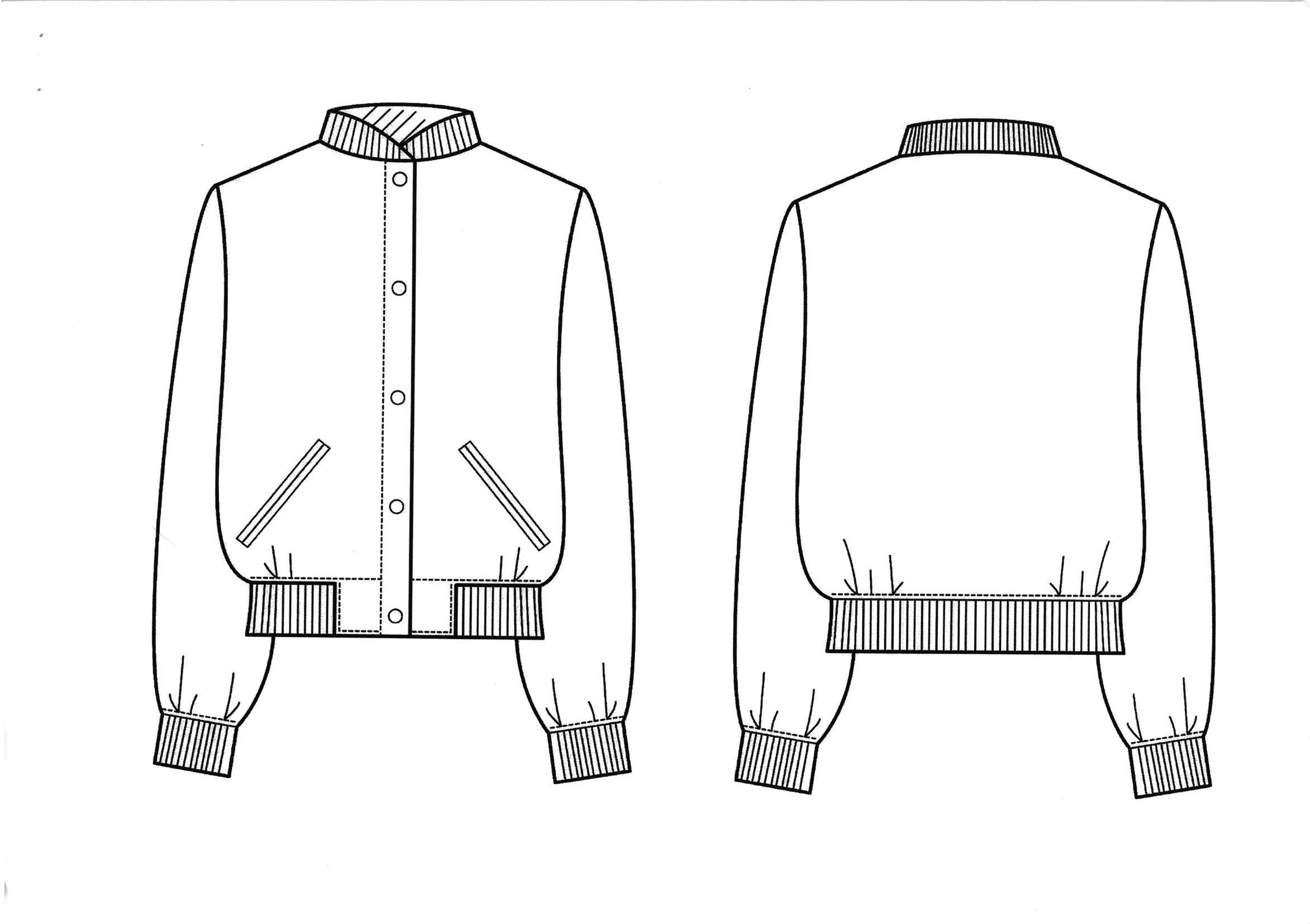 Technical Drawing Coat