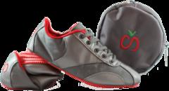 Solz Gunmetal Grey Foldable Shoes Shoes Gunmetal Grey
