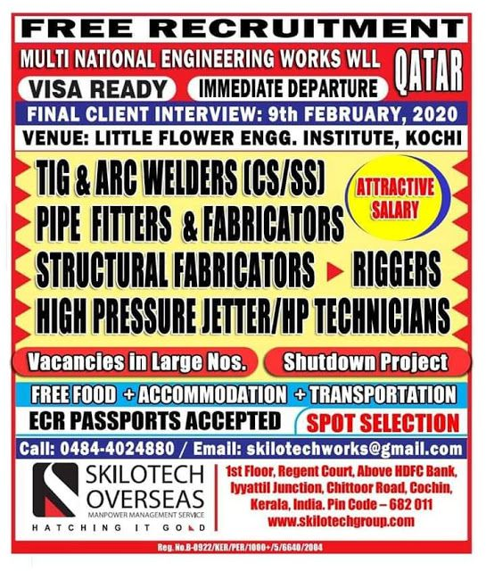 QATAR JOBS REQUIRED FOR MULTI NATIONAL COMPANY IN QATAR