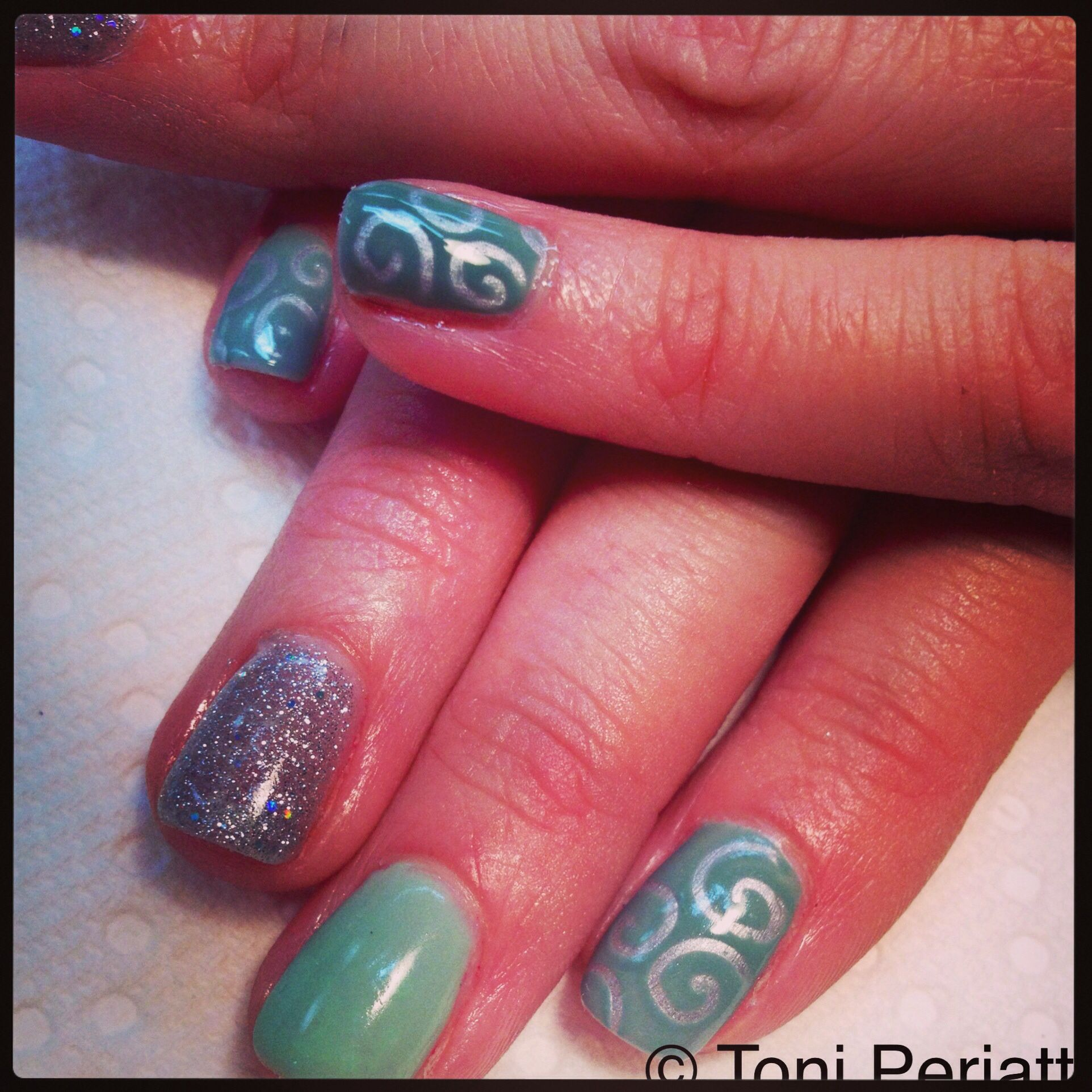 Cnd shellac mint convertible sage scarf and ice vapor (silver chrome ...