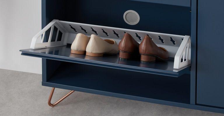 Made Schuhschrank Blau Schuhschrank Schuhaufbewarung Und Schrank