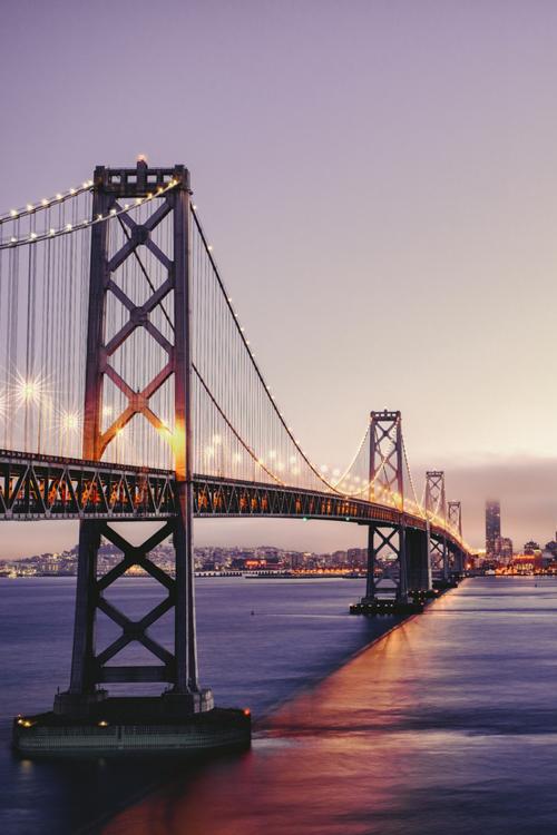 Skyline And Bay Bridge San Francisco Bay Bridge Travel Aesthetic Nature Images