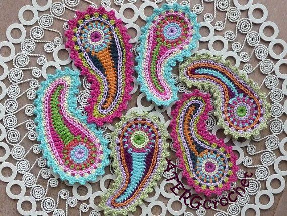 Crochet paisley pattern da ATERGcrochet