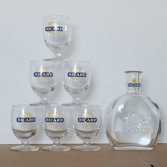 VERRE RICARD ALCOOL GLASS ALCOHOL PUB BISTROT DECO