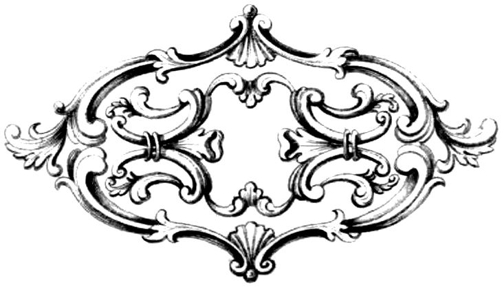 Free Vintage Clip Art Fancy Frame With Ornament