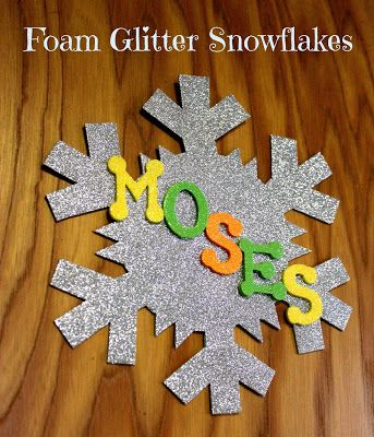 GLITTER SNOWFLAKES CAN BE PERSONALISED