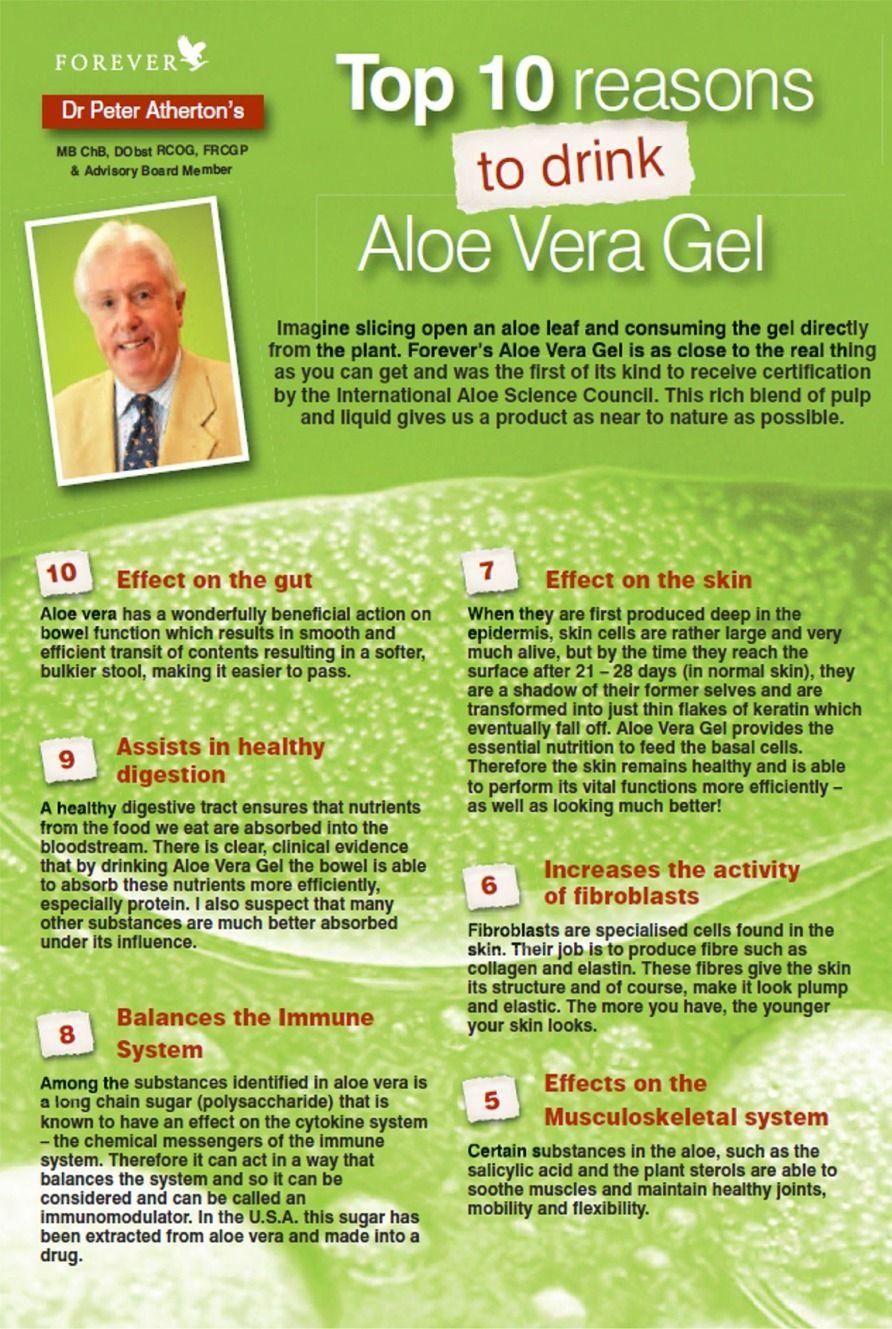 benefits of drinking aloe vera gel