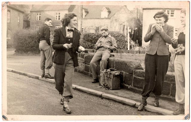 Stylishly attired members of the Erdington Social and Cycling Club, 1940s (image 2 of 3). #vintage #1940s #women #cyclings #sports