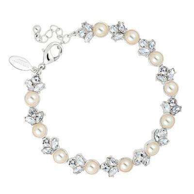 Alan Hannah Devoted Designer pearl and crystal cluster link bracelet- at Debenhams.com