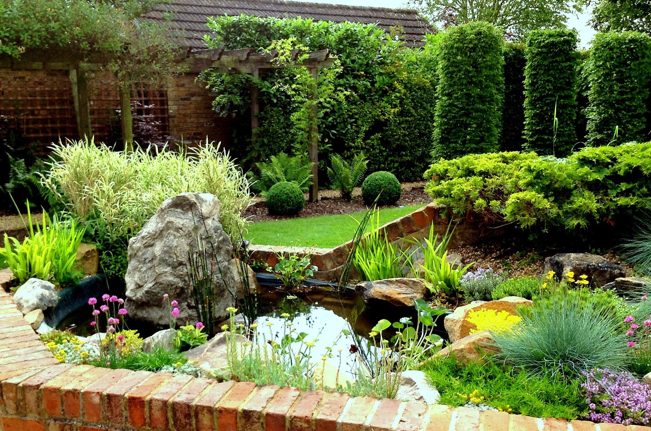 Traditional Garden Design Traditional Planting Beech Columns Box Ball And Shield Ferns Exeter Devon