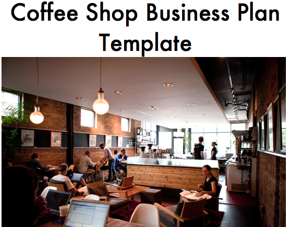Coffee Shop Business Plan Template Coffee Shop Business Plan