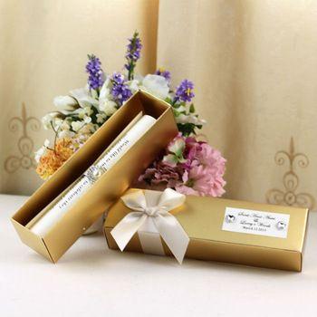 SC003---elegant ribbon scroll wedding invitations