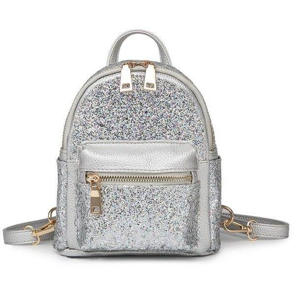 27af6bddab8d Sequin Glitter Mini Backpack ($16) ❤ liked on Polyvore featuring ...
