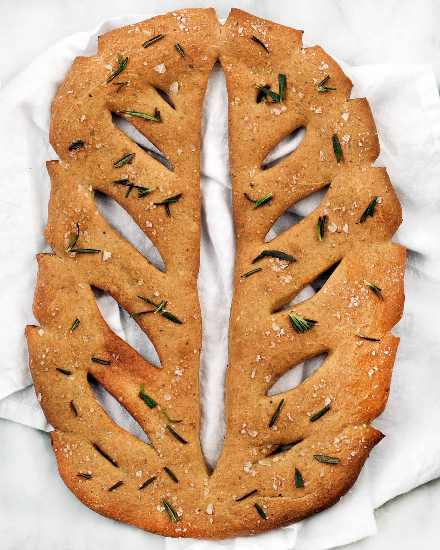 Rosemary Fougasse with Sea Salt | Last Ingredient #tearandsharebread
