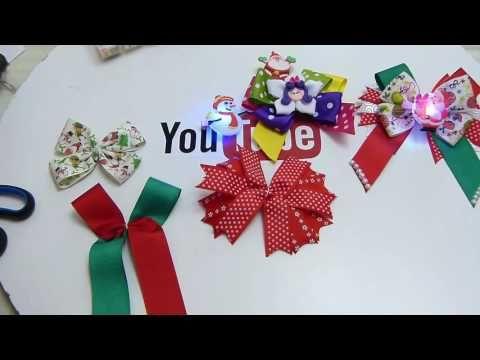 Lazos Navideños para el cabello paso a paso- - YouTube