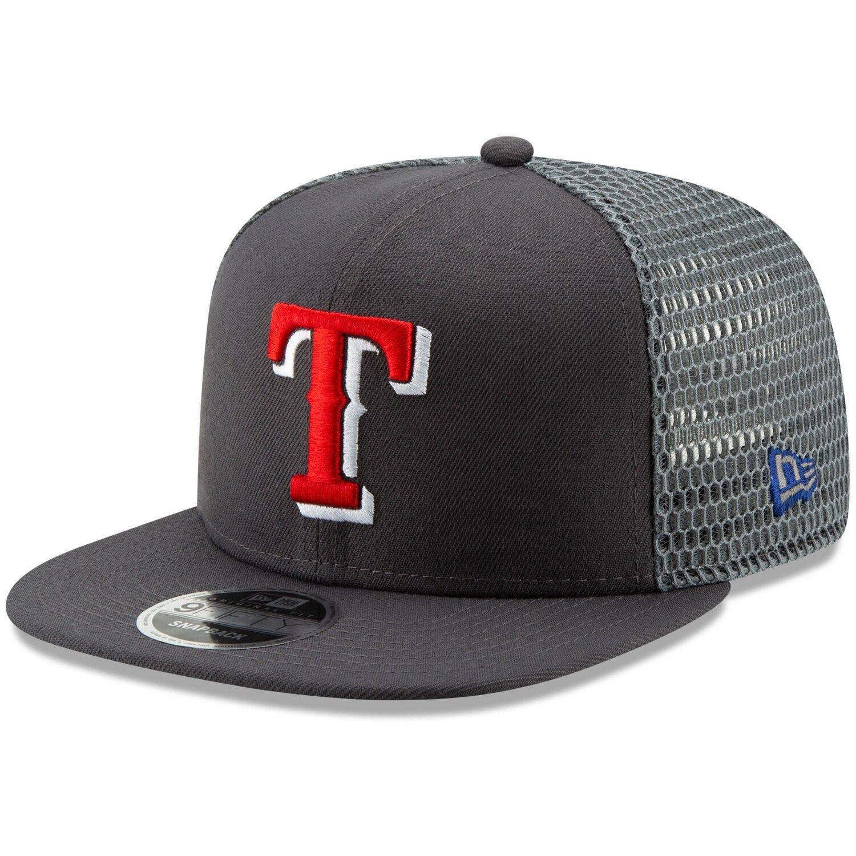 Men S New Era Graphite Texas Rangers Mesh Fresh 9fifty Adjustable Snapback Hat Texas Rangers Snapback Hats Texas Rangers Gear