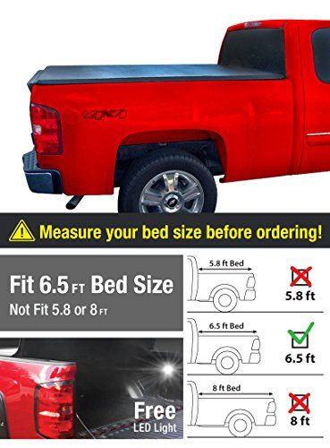 Premium Trifold Tonneau Truck Bed Cover For 07 13 Chevy Gmc